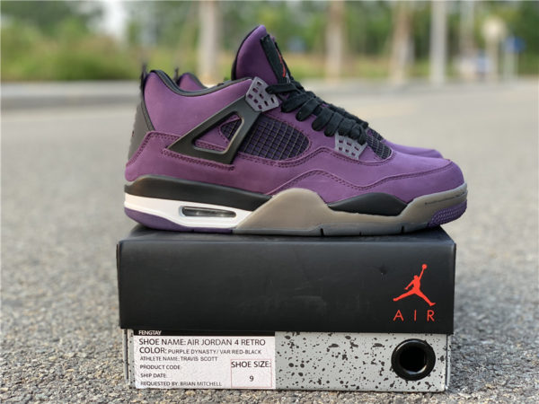 Jordan 4 Travis Scott purple
